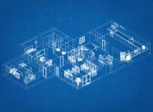 Modello dell'architetto dell'appartamento immagini stock libere da diritti