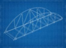 Modello dell'architetto del ponte royalty illustrazione gratis