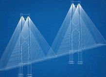 Modello dell'architetto del ponte illustrazione vettoriale