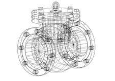 Modello dell'architetto della valvola illustrazione vettoriale
