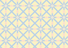 Modello dell'asterisco, del cerchio e del triangolo su colore pastello Immagini Stock