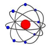 Modello dell'atomo illustrazione di stock