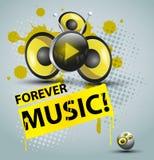 Modello dell'audio di musica Immagine Stock