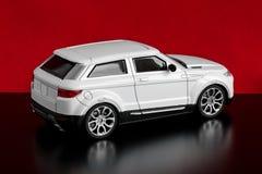 Modello dell'automobile bianca Fotografia Stock Libera da Diritti
