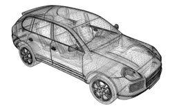 Modello dell'automobile 3D Fotografie Stock Libere da Diritti