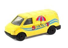 Modello dell'automobile del giocattolo dei bambini gialli Immagini Stock
