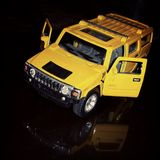 Modello dell'automobile di Hummer Fotografia Stock Libera da Diritti