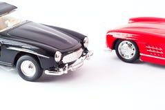Modello dell'automobile sportiva alla luce dello studio Immagine Stock Libera da Diritti