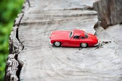 Modello dell'automobile sportiva nel posto della natura Fotografia Stock