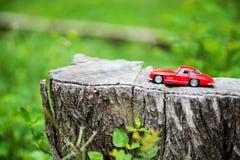 Modello dell'automobile sportiva nel posto della natura Immagini Stock Libere da Diritti