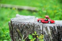 Modello dell'automobile sportiva nel posto della natura Immagine Stock