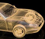 Modello dell'automobile su fondo nero Fotografia Stock