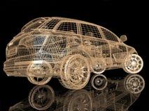Modello dell'automobile su fondo nero Fotografie Stock