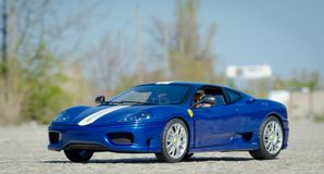 Modello dell'elite di HotWheels di 1:18 di Stradale di sfida di Ferrari 360 fotografia stock