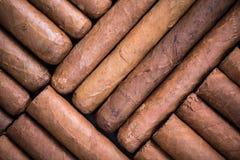 Modello dell'esposizione dei sigari del tabaccaio Fotografia Stock Libera da Diritti