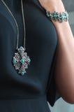 Modello dell'essere umano dei gioielli del diamante fotografia stock