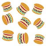 Modello dell'hamburger Fotografie Stock