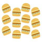 Modello dell'hamburger Fotografia Stock