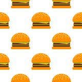 Modello dell'hamburger di vettore Fotografie Stock