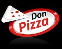 Modello dell'icona della pizza Immagine Stock Libera da Diritti