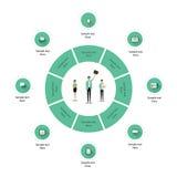 Modello dell'icona di Infographics di affari Fotografia Stock