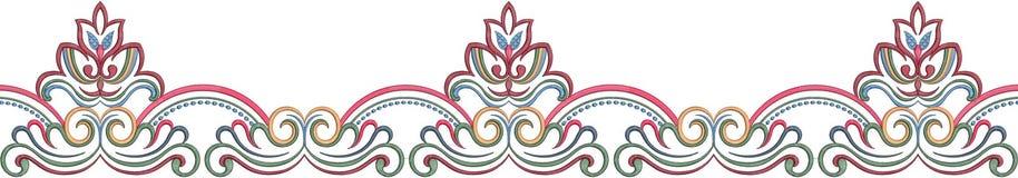 modello dell'illustrazione del fiore nel fondo semplice illustrazione vettoriale
