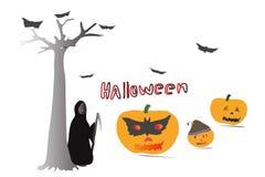Modello dell'illustrazione delle zucche di Halloween Fotografia Stock