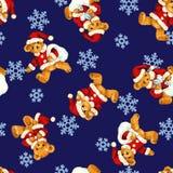 Modello dell'illustrazione di Santa Claus Bear Immagini Stock Libere da Diritti
