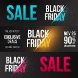 Modello dell'insegna di Exlosion di vettore di vendita di Black Friday royalty illustrazione gratis