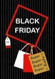 Modello dell'insegna di progettazione dell'iscrizione di vendita di Black Friday Fotografia Stock Libera da Diritti