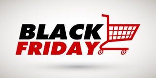 Modello dell'insegna di vendita di Black Friday Fotografie Stock Libere da Diritti