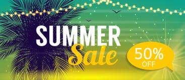Modello dell'insegna di vendita di estate per il vostro affare Illustrati di vettore