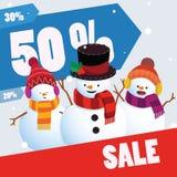 Modello dell'insegna di vendita di inverno Immagini Stock Libere da Diritti