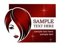 Modello dell'insegna per il salone di bellezza, stazione termale, stili di capelli Fotografie Stock Libere da Diritti