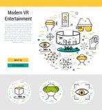 Modello dell'intestazione - entertaiment moderno Fotografia Stock Libera da Diritti