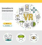 Modello dell'intestazione - realtà virtuale Immagini Stock