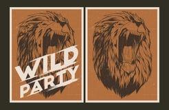Modello dell'invito del partito selvaggio Fotografia Stock Libera da Diritti