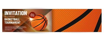 Modello dell'invito di torneo di pallacanestro illustrazione di stock