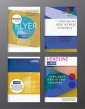 Modello dell'opuscolo del rapporto annuale di affari di progettazione dell'aletta di filatoio copertura pre Fotografia Stock