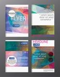 Modello dell'opuscolo del rapporto annuale di affari di progettazione dell'aletta di filatoio copertura pre Immagini Stock Libere da Diritti