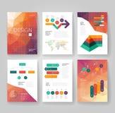 Modello dell'opuscolo di affari con il infographics royalty illustrazione gratis