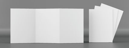 Modello dell'opuscolo Front View Fotografia Stock