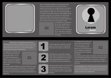 Modello dell'opuscolo nel Grey Immagine Stock Libera da Diritti