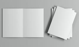 Modello dell'opuscolo Vista superiore Fotografia Stock Libera da Diritti