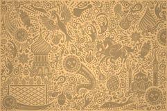 Modello dell'oro della coppa del Mondo della Russia illustrazione di stock