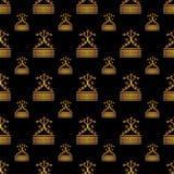 Modello dell'oro senza cuciture Fotografie Stock Libere da Diritti
