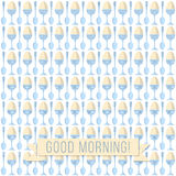 Modello dell'uovo di mattina Fotografie Stock Libere da Diritti