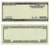 Modello della banconota del dollaro di U.S.A. dell'annullare 100 Fotografia Stock