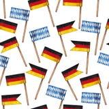 Modello della bandiera dell'acquerello illustrazione di stock
