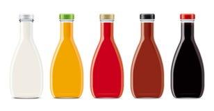 Modello della bottiglia di vetro illustrazione di stock